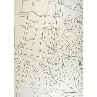Abstract Line Drawing, My Garage For Sale