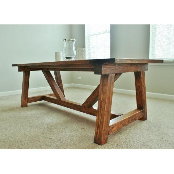 Rustic Farmhouse Dining Table - Image 4 of 5