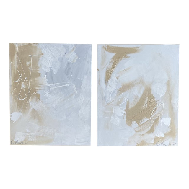 """Christian Siriano """"Falling"""" Original Paintings - Set of 2 For Sale"""