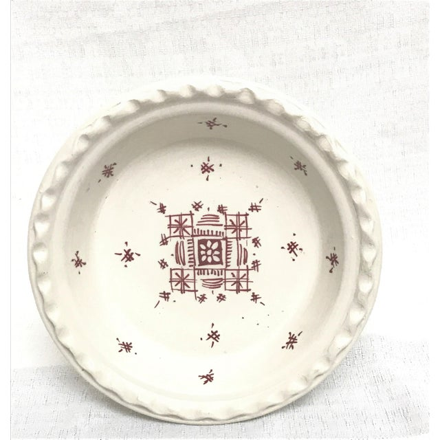 Boho Chic Moroccan Small Ceramic Serving Coupe Plate For Sale - Image 3 of 3