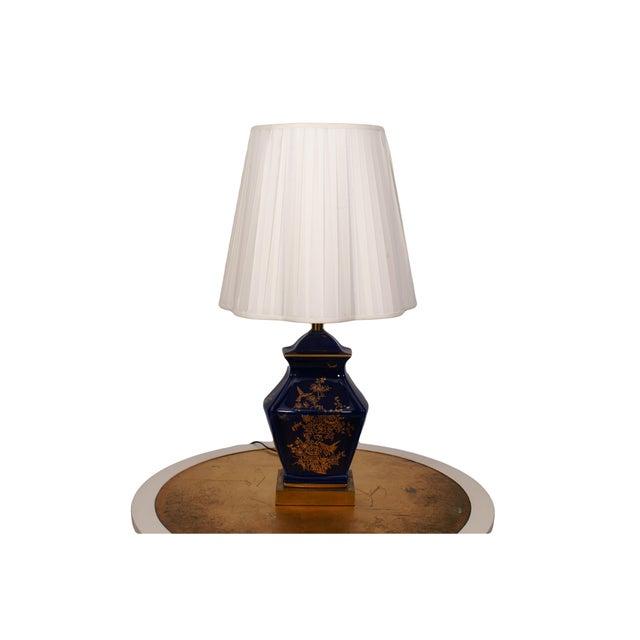 Cobalt Blue Ceramic Table Lamp - Image 2 of 4