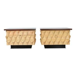Brutalist Sculptural Pair of Cabinets For Sale