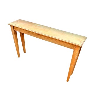 1990s Minimalist P. I. Mulligan Co Narrow Pine Console Table For Sale
