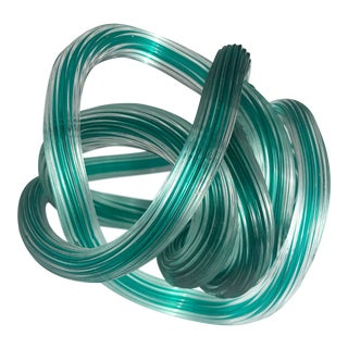 Italian Glass Knot Sculpture For Sale