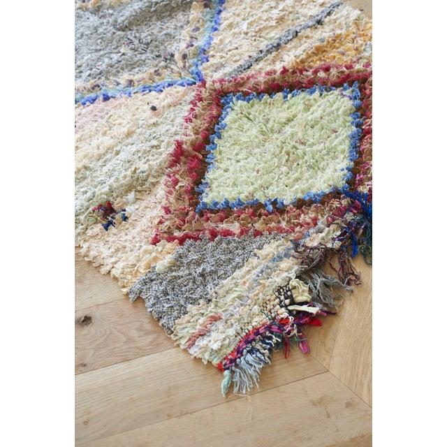 "Pastel Diamond Print Boucherouite Rug 3' 10""x7' 5"" For Sale - Image 3 of 3"