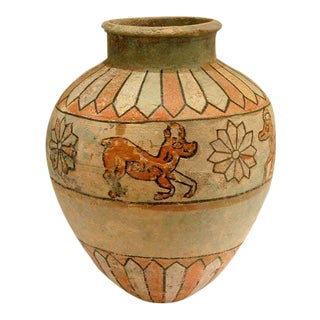 Ziwiye Glazed Terracotta Jar For Sale