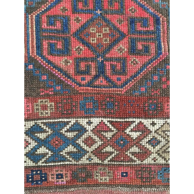 "Antique Tribal Rug 6'10"" X 3'5"" - Image 8 of 8"