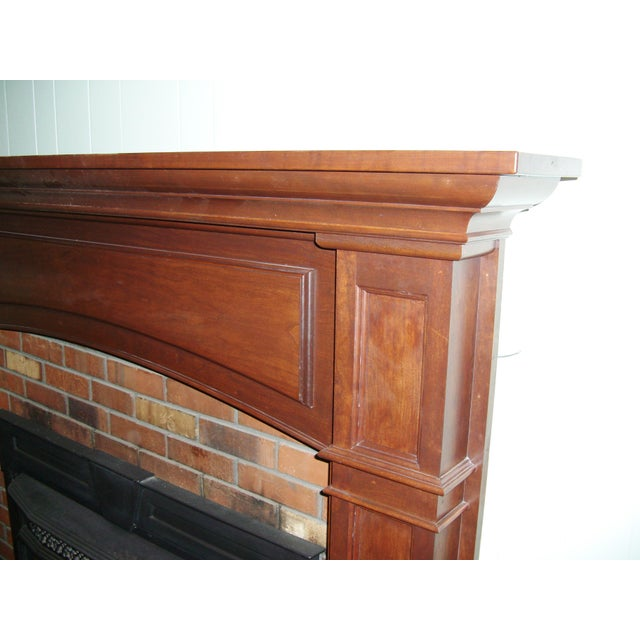 Modern Solid Cherry Fireplace Mantle Arched For Sale - Image 4 of 12
