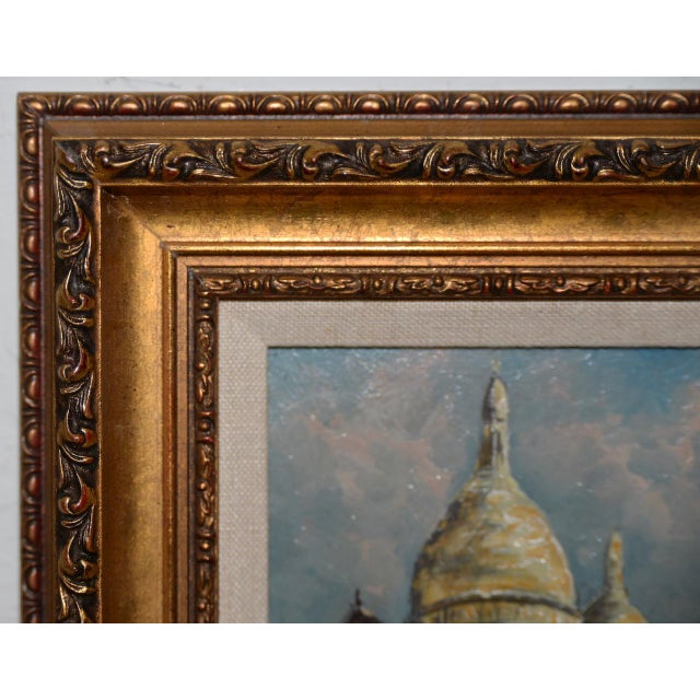 "Mid 20th Century Raymond Besse ""Sacré-Cœur, Paris"" Original Oil Painting C.1950s For Sale - Image 5 of 7"