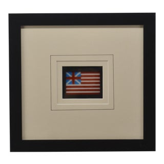 Antique Glass Photo of Grand Union Flag For Sale