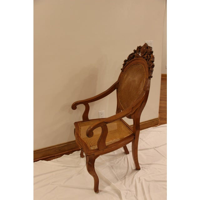 Vintage Carved Accent Chair - Image 2 of 11