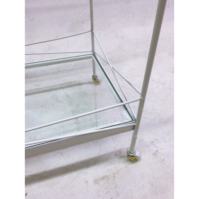 Mid-Century Bent Steel Bar Cart - Image 5 of 6