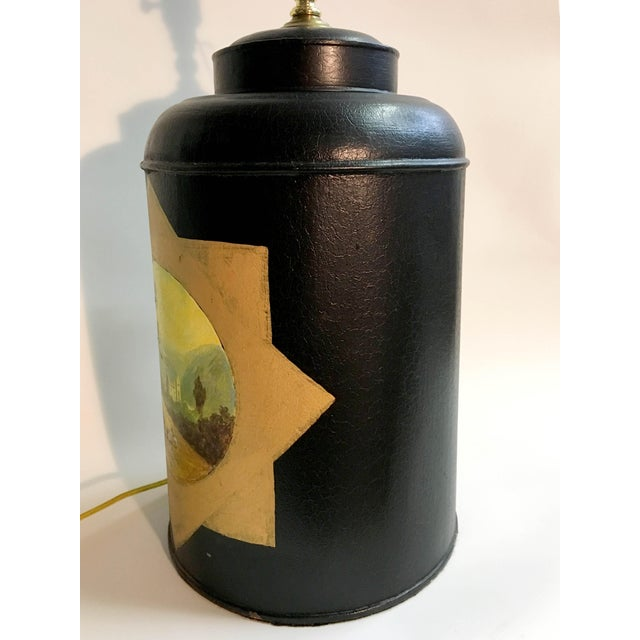 English Traditional English Export Tea Caddy Lamp For Sale - Image 3 of 7