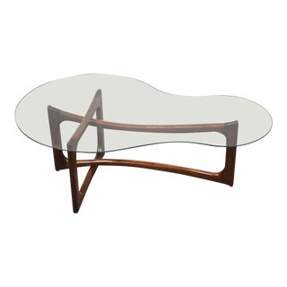 Adrian Pearsall Style Glass Coffee Table For Sale