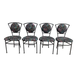 Vintage 1980s Postmodern Dining Chairs - Set of 4 For Sale
