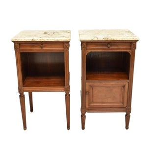 20th Century French Louis XVI Bedside Tables - a Pair For Sale