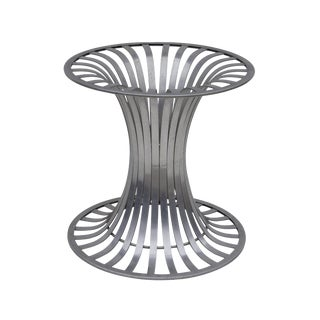 Round Aluminum Tulip Dining Table Base by Woodard For Sale