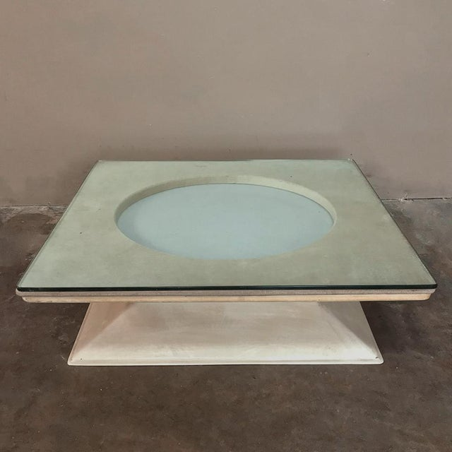 Mid-Century Modern Illuminated Coffee Table from M.I.M. Roma circa 1970s, is a highly desirable piece for contemporary...