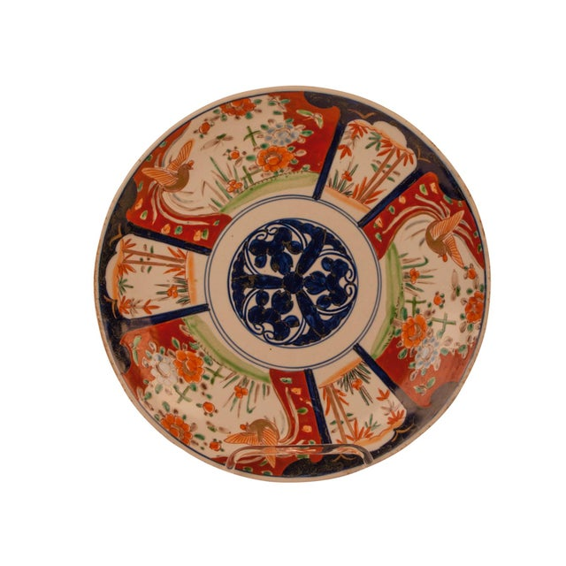 1890s Japanese Imari Porcelain 3 Flowers Charger Plate For Sale In San Francisco - Image 6 of 6