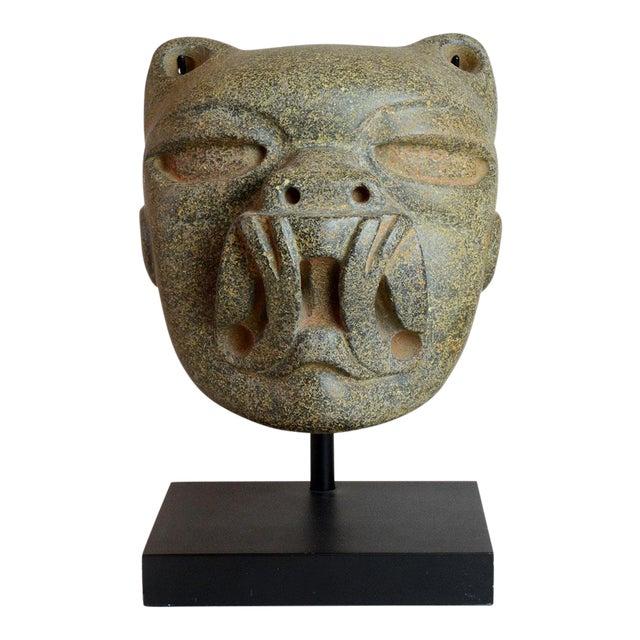 Olmec Stone Jaguar Head For Sale