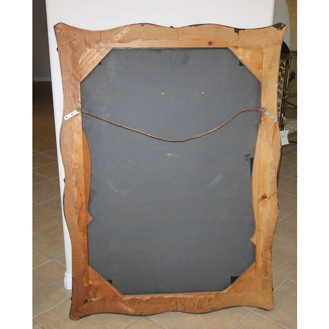 1930s Art Deco Scalloped Etched Wall Mirror For Sale - Image 9 of 11
