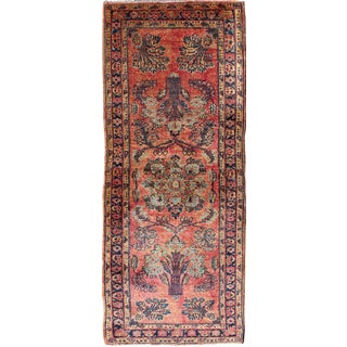 Early 20th Century Antique Persian Sarouk Runner Rug - 2′ × 5′7″ For Sale
