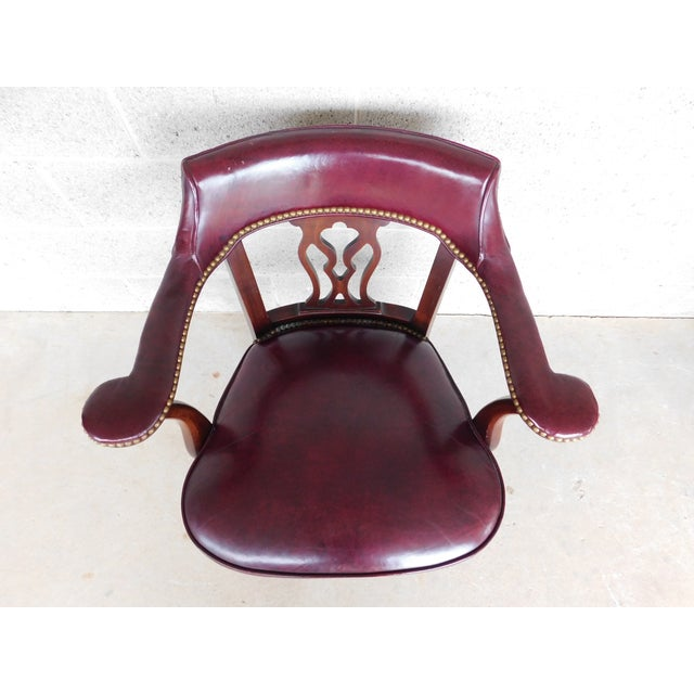 Hickory Chair Chippendale Style Leather Arm Chairs - a Pair For Sale In Philadelphia - Image 6 of 13