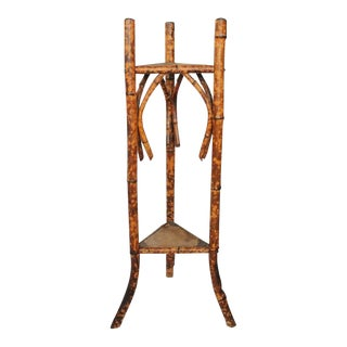Mid 19th C. Victorian Tortoise Shell Bamboo Pedestal For Sale
