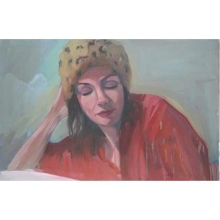 "Paula McCarty ""Leopard Skin Hat"" Oil Painting"
