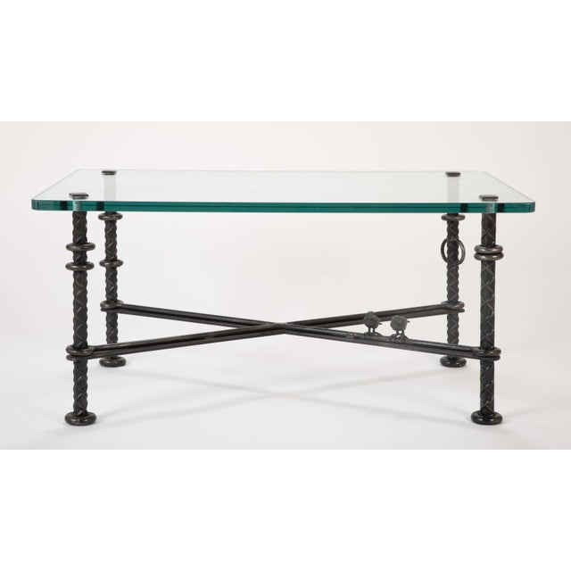 Patinated Wrought Iron Coffee Table by Llana Goor For Sale - Image 9 of 13