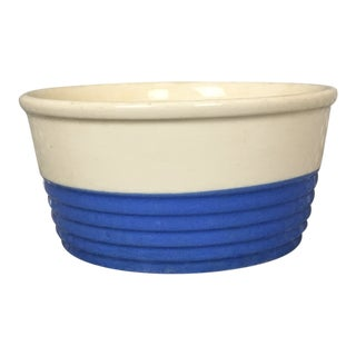 Universal Potteries, Inc. Blue and White Color Block Small Dish For Sale