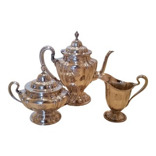 1910s Wallace & Sons Sterling Silver Tea Set of 3 For Sale