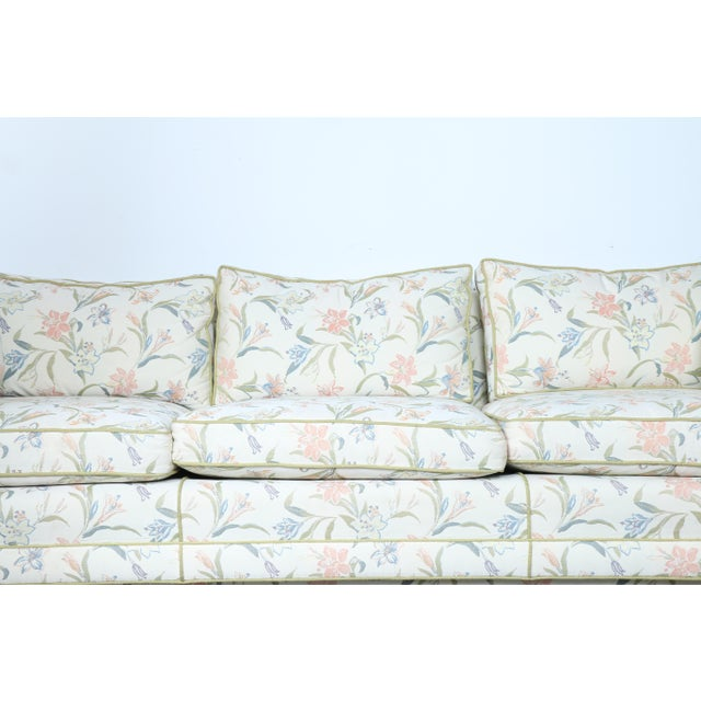 Mid-Century Modern Floral Sofa - Image 3 of 10