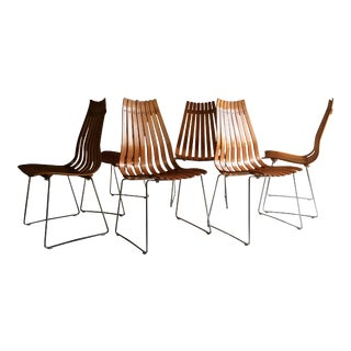 Scandia Dining Chairs by Hans Brattrud for Hove Mobler Teak, 1960s - Set of 6 For Sale