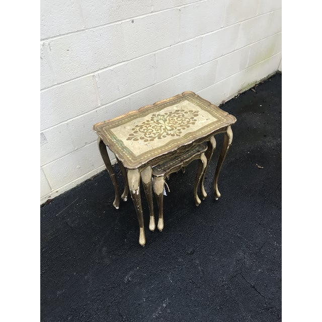 Gold Guilded Nesting Tables - Made in Italy - Image 5 of 10