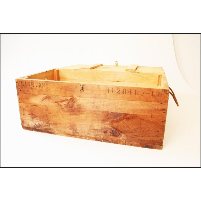 Vintage Rustic Underwood Typewriter NYC Wood Storage Crate - Image 4 of 11