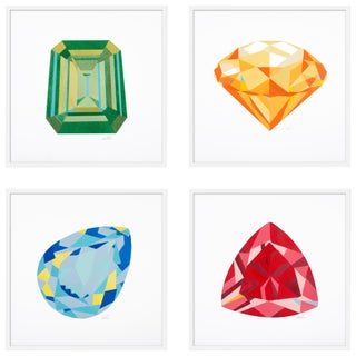 "Large ""Gems, Set of 4"" Print by Rankin Willard, 60"" X 60"" For Sale"