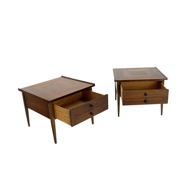 Mid-Century Modern Pair of Danish Mid-Century Modern Walnut End Tables For Sale - Image 3 of 8