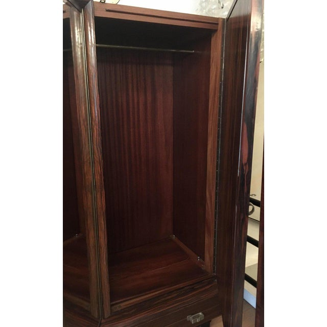 Brown 1930s Art Deco De Coene Belgian Cabinet Wardrobe For Sale - Image 8 of 13