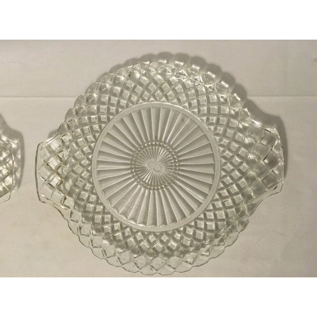 Clear Cut Glass Serving Trays - A Pair - Image 4 of 7