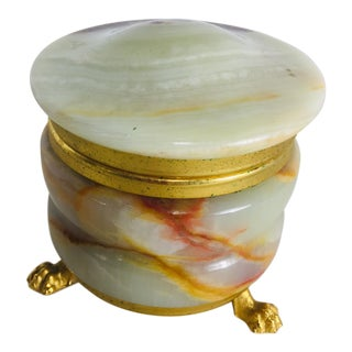 1950s Vintage Italian Onyx Ring Box For Sale