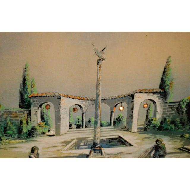 Vintage Signed Illuminated Giclee Painting on Panel - Image 7 of 9