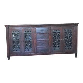 Custom Furniture Solid Wood Credenza Sideboard Buffet