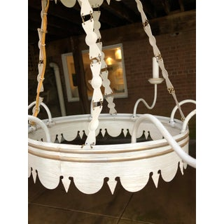 Lamplight Designs 8 Arm Large Colonial White & Gold Chandelier Preview