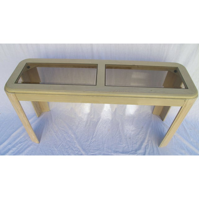 1980s White Washed Console from Yellow Pine - Image 3 of 6