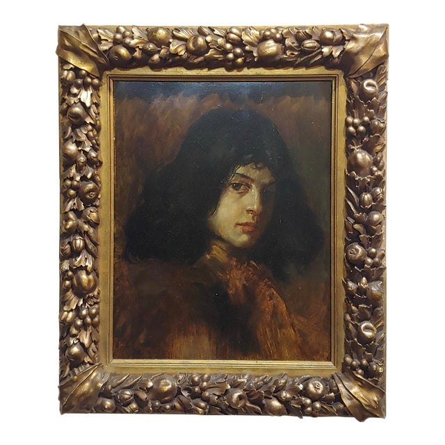German School-Portrait of a Good-Looking Man-Oil Painting-C1900s For Sale