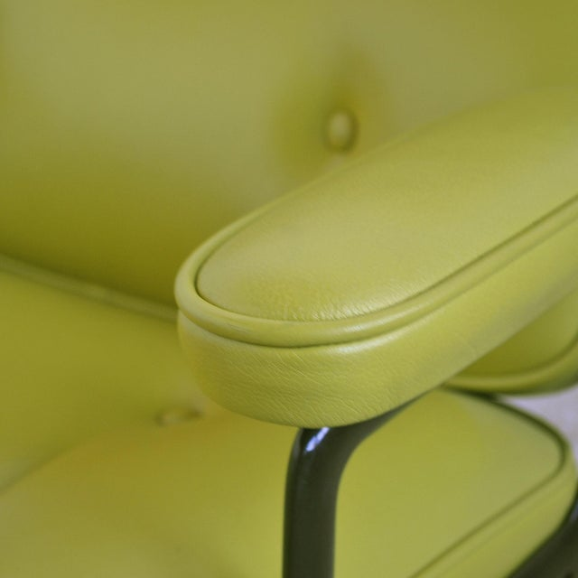 Eames Time-Life Chair with Green Leather by Herman Miller For Sale - Image 9 of 10