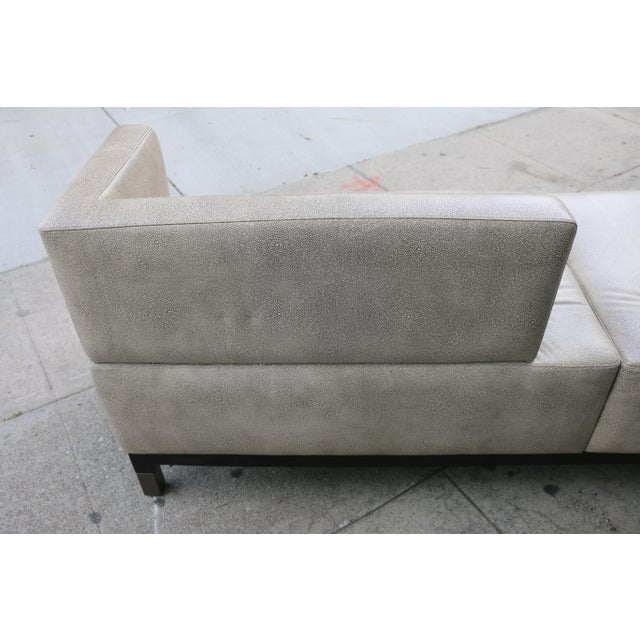 Modern Contemporary Leather Love Seat For Sale - Image 9 of 11