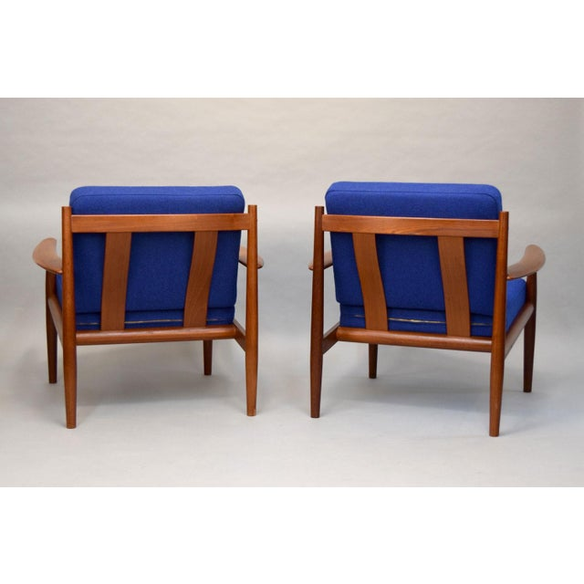 Grete Jalk Grete Jalk for France & Son Lounge Chairs - A Pair For Sale - Image 4 of 11