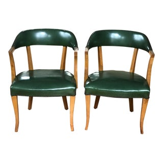 Mid Century Modern Danish Style Barrel Accent Chairs- A Pair For Sale